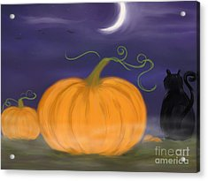 Halloween Night Acrylic Print by Roxy Riou