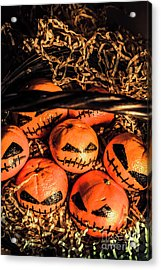 Halloween Pumpkin Head Gathering Acrylic Print by Jorgo Photography - Wall Art Gallery