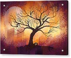 Halloween Tree Acrylic Print by Thubakabra