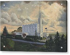 Hamilton New Zealand Temple Acrylic Print by Jeff Brimley