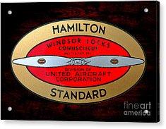 Hamilton Standard Windsor Locks Acrylic Print by Olivier Le Queinec
