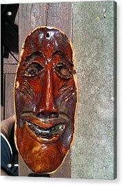 Hand Made Mask Acrylic Print by Emily Osborne