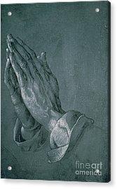 Hands Of An Apostle Acrylic Print by Albrecht Durer