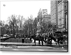 Handsome Cab At The Grand Army Plaza Acrylic Print by John Rizzuto