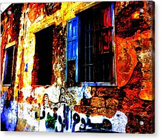 Handwritten No Parking Allowed In Beirut Acrylic Print by Funkpix Photo Hunter