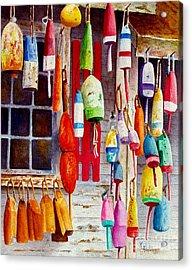 Hanging Around Acrylic Print by Karen Fleschler