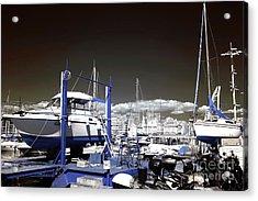 Hanging Boats Acrylic Print by John Rizzuto