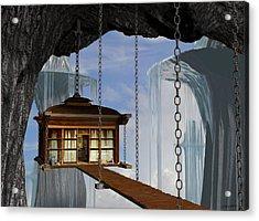 Hanging House Acrylic Print by Cynthia Decker