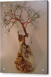 Hanging It Up Acrylic Print by Judy Byington
