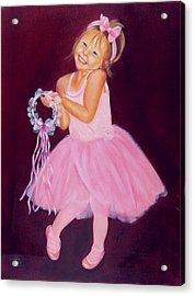 Happy Ballerina Acrylic Print by Joni McPherson