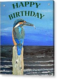 Happy Birthday Acrylic Print by Eric Kempson