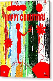 Happy Christmas 14 Acrylic Print by Patrick J Murphy