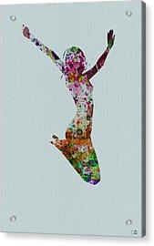 Happy Dance Acrylic Print by Naxart Studio