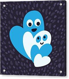 Happy Hearts Family Acrylic Print by Boriana Giormova