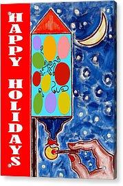 Happy Holidays 59 Acrylic Print by Patrick J Murphy