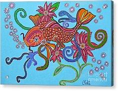 happy Koi Acrylic Print by Claudia Tuli