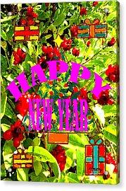 Happy New Year 6 Acrylic Print by Patrick J Murphy