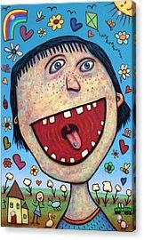Happy Pill Acrylic Print by James W Johnson