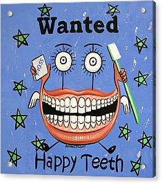 Happy Teeth Acrylic Print by Anthony Falbo
