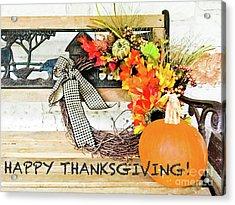 Happy Thanksgiving Acrylic Print by Barbara Shallue