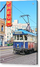 Happy Trolley Acrylic Print by Suzanne Barber