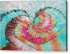 Happy Valentine's Day Acrylic Print by Linda Sannuti