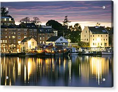 Harbor Lights Acrylic Print by Eric Gendron
