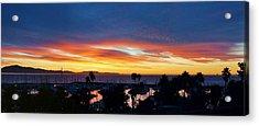 Harbor Sunrise Reflection  Acrylic Print by John Pierpont