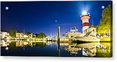 Harbor Town Yacht Basin Light House Hilton Head South Carolina Acrylic Print by Dustin K Ryan