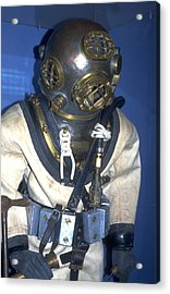 Hard Hat Diving Suit Acrylic Print by Carl Purcell