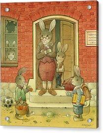 Hare School Acrylic Print by Kestutis Kasparavicius