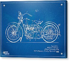 Harley-davidson Motorcycle 1928 Patent Artwork Acrylic Print by Nikki Marie Smith