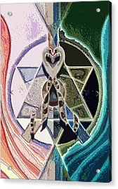 Harmony Of Duality Acrylic Print by Saarah Esther Felix