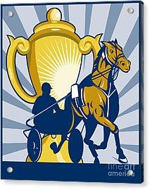 Harness Cart Horse Racing Acrylic Print by Aloysius Patrimonio