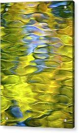 Harvest Gold Mosaic Acrylic Print by Christina Rollo