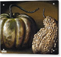 Harvest Gourds Acrylic Print by Adam Zebediah Joseph