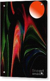 Harvest Moon Acrylic Print by Terril Heilman