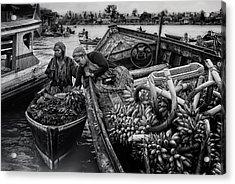 Harvest Transaction Acrylic Print by Erwin Astro