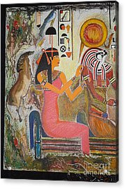 Hathor And Horus Acrylic Print by Prasenjit Dhar