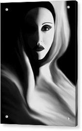 Haunted - Self Portrait Acrylic Print by Jaeda DeWalt