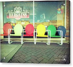 Have A Seat Acrylic Print by Sonja Quintero