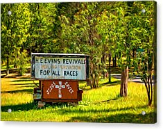 Have Miracle - Will Travel. Paint Acrylic Print by Steve Harrington