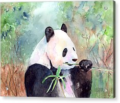 Having A Snack Acrylic Print by Arline Wagner