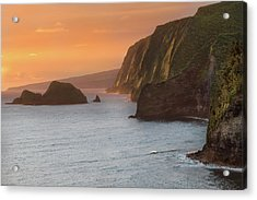 Hawaii Sunrise At The Pololu Valley Lookout 2 Acrylic Print by Larry Marshall