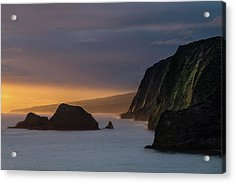 Hawaii Sunrise At The Pololu Valley Lookout Acrylic Print by Larry Marshall