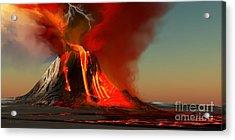 Hawaii Volcano Acrylic Print by Corey Ford