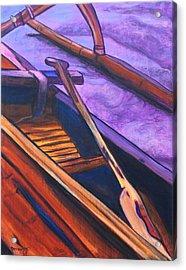 Hawaiian Canoe Acrylic Print by Marionette Taboniar
