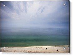 Hazy Day At Sleeping Bear Dunes Acrylic Print by Adam Romanowicz