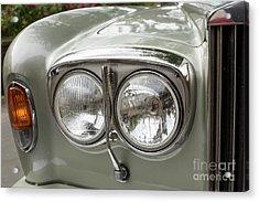 Head Lights Of A Rolls Royce Acrylic Print by Patricia Hofmeester
