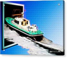 Heading Back To Sea Acrylic Print by Sue Melvin